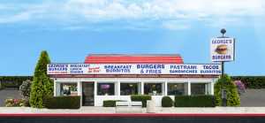 George's Burgers storefront