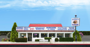 George's Burgers store front