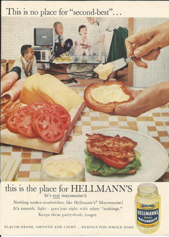 BLT Helmann's Mayo Ad 1958